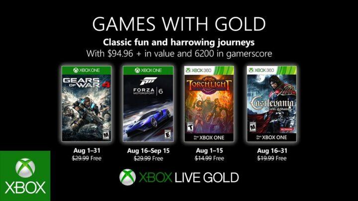 ¡Atento a los juegos que llegan este agosto con «Xbox Live Gold»!