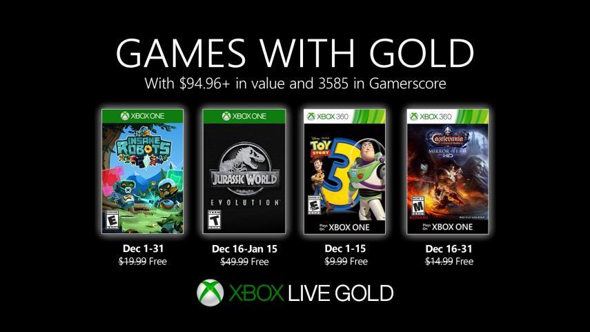 Anunciados los juegos de diciembre para los usuarios de Xbox Live Gold