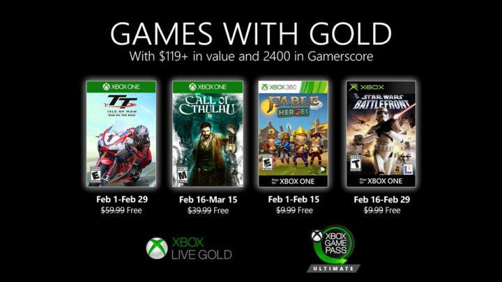Nuevos juegos de febrero con Xbox «Games with Gold»: Star Wars Battlefront, Call of Cthulhu y más