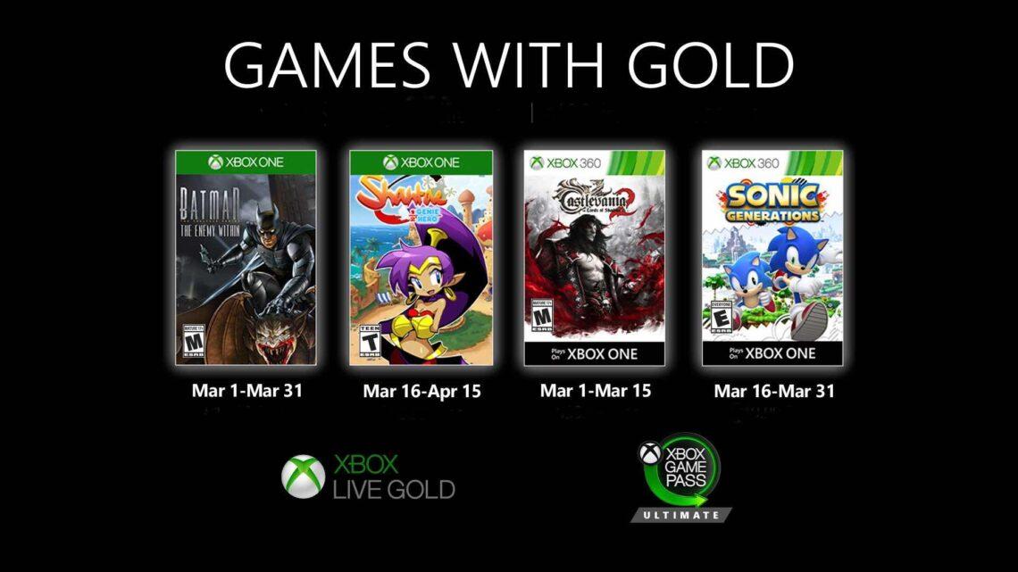 Nuevos juegos de marzo con Xbox «Games with Gold»: «Batman The Enemy Within», «Shantae Half-Genie Hero» y más