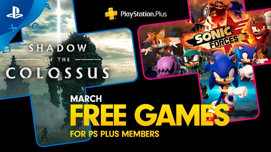 Ya están aquí los juegos de marzo para PlayStation Plus: «Shadow of the Colossus», «Sonic Forces» y «Holfraine»