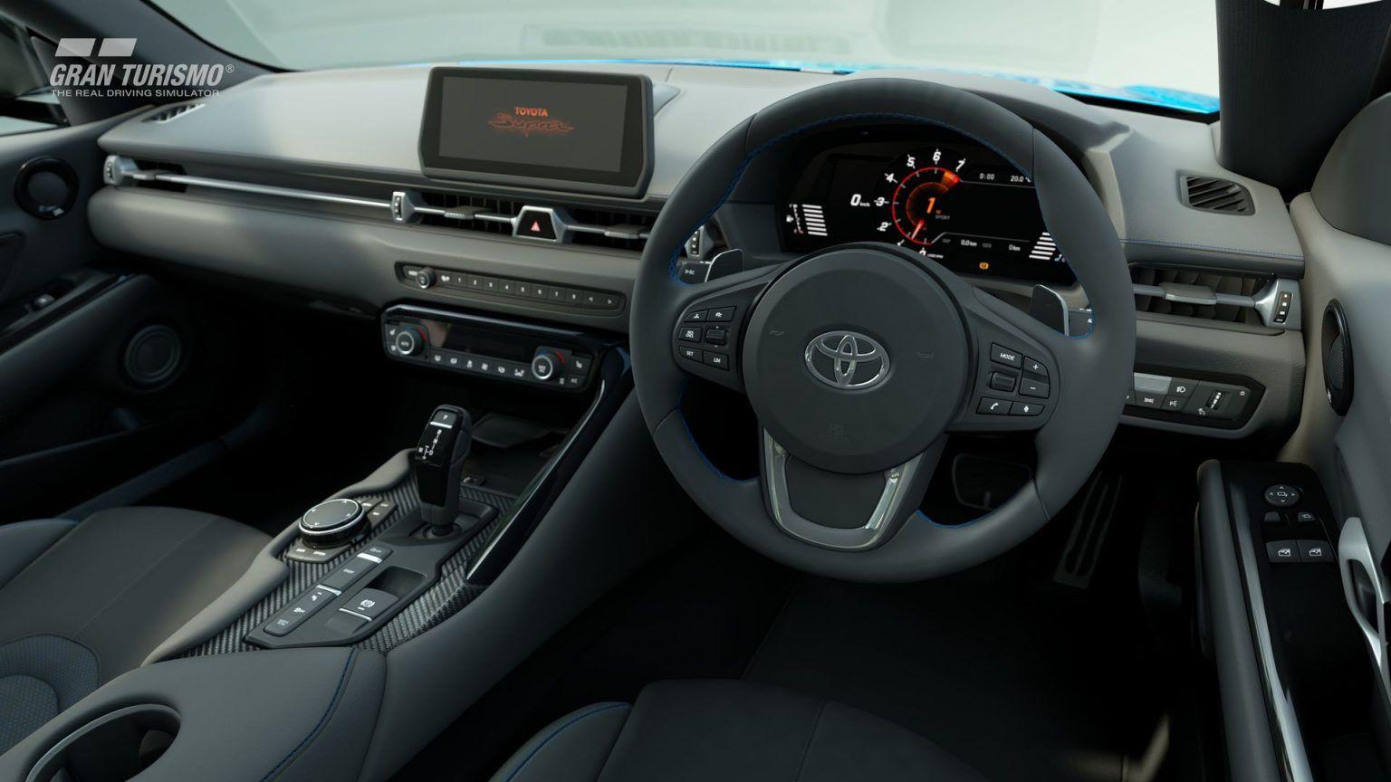 interior de cabina de Toyota GR Supra RZ para Gran Turismo Sport PlayStation 4 PS4 1.57