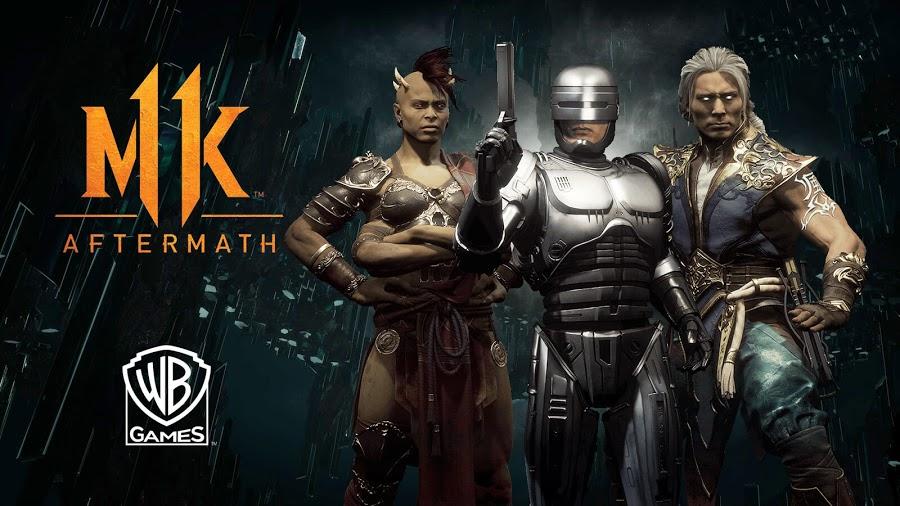 imagen de Mortal Kombat 11 Aftermath Sheeva, Fujin y RoboCop