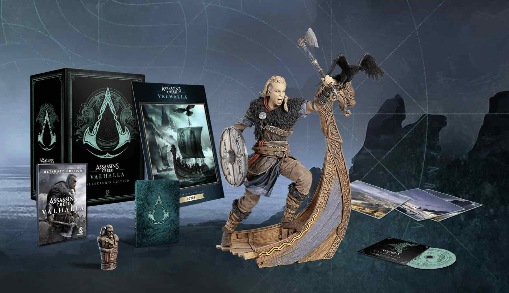 imagen de edición coleccionista de Assassin's Creed Valhalla collector's edition