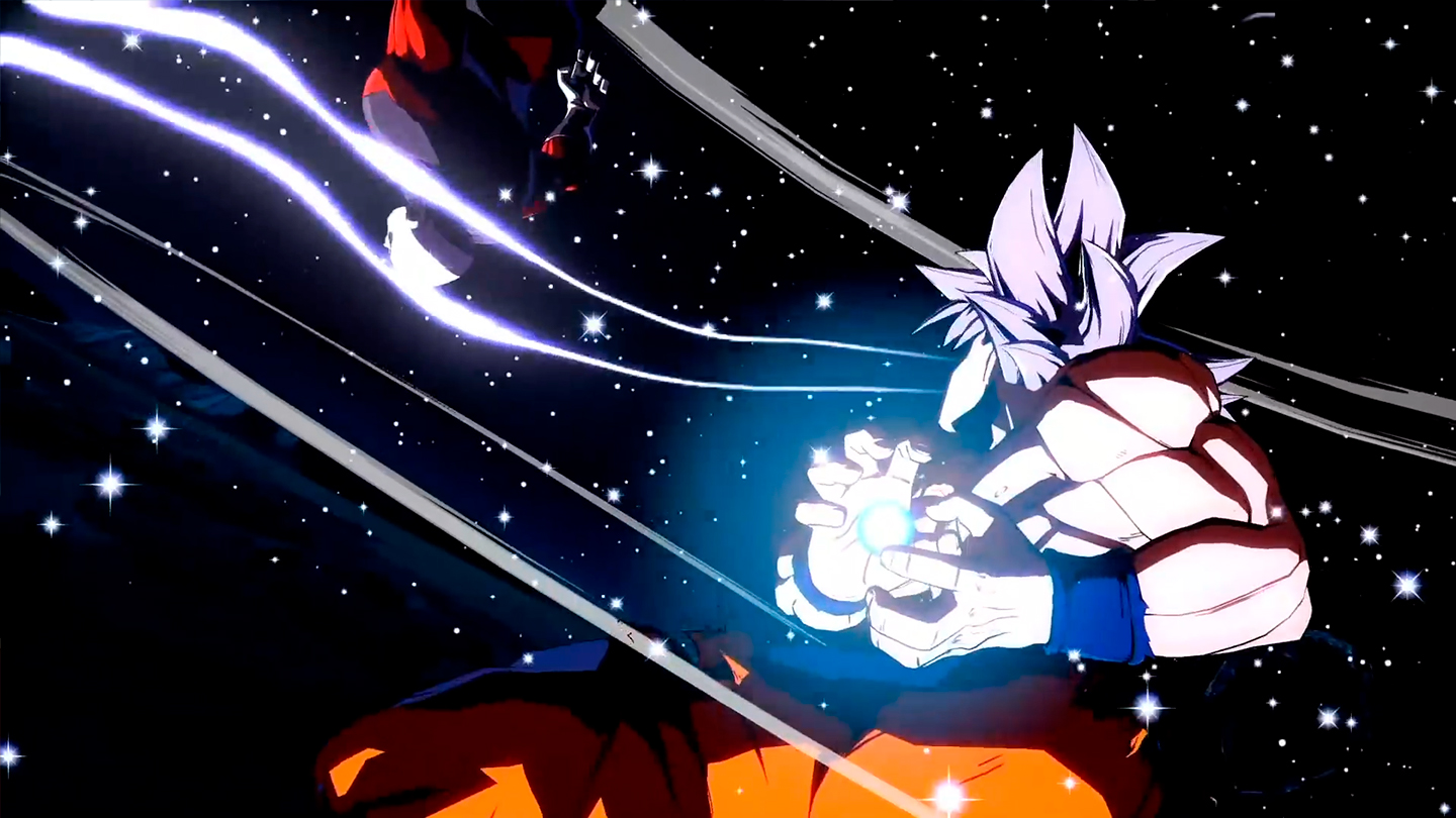 imagen de Goku Ultra Instinto Dragon Ball FighterZ