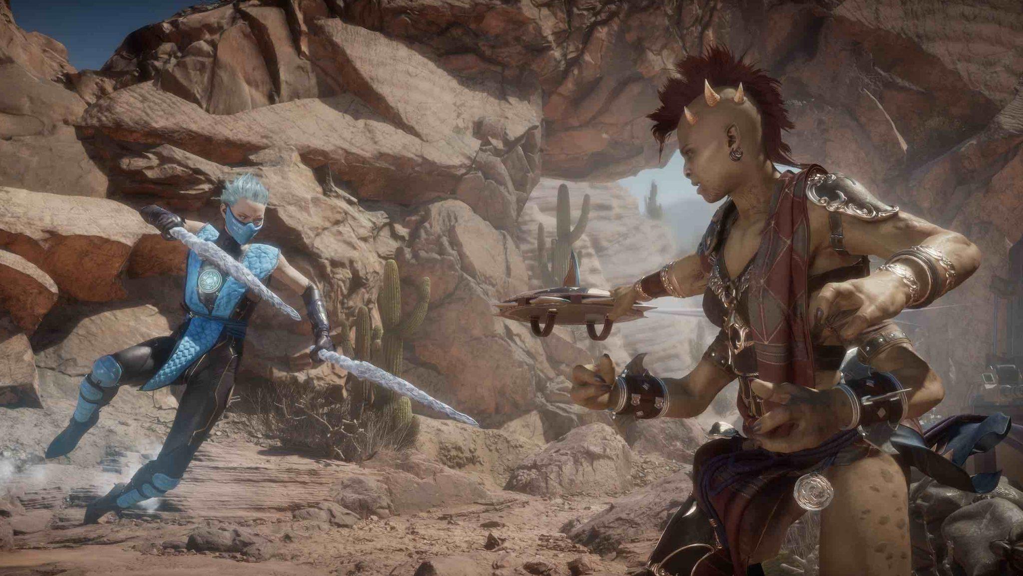 imagen de Mortal Kombat 11 Aftermath con Sheeva y Frost