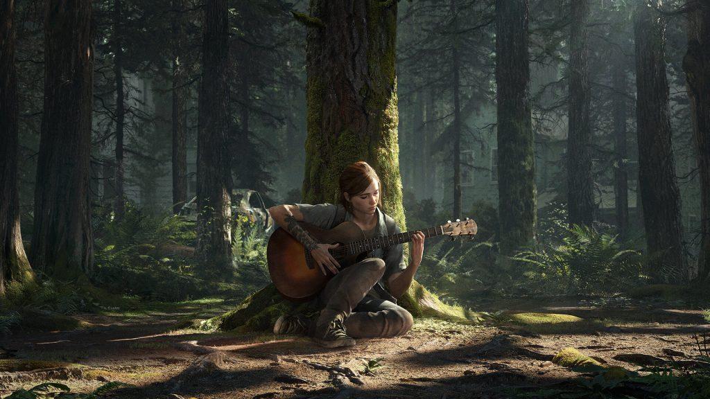 Ellie con guitarra en The Last of Us Parte II