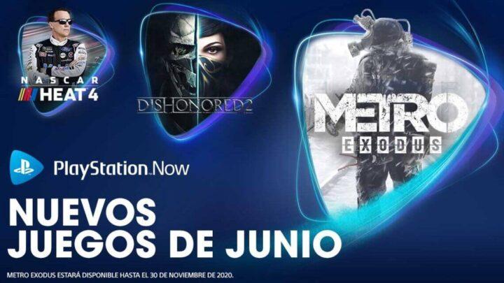 PlayStation Now añade 8 nuevos juegos para junio, entre ellos Dishonored 2, Metro Exodus y Nascar Heat 4