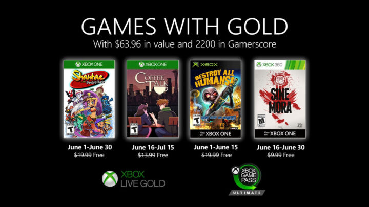 Ya están aquí los nuevos juegos de junio para Games with Gold